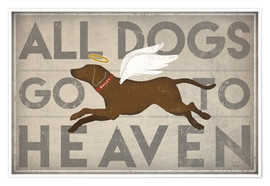 Póster Premium All Dogs Go to Heaven II