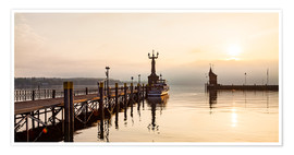 Póster Premium  Morning mood in Constance on Lake Constance - Dieterich Fotografie