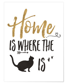 Póster Premium  Home is where the cat is - Veronique Charron