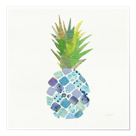 Póster Premium  Tropical Pineapple II - Courtney Prahl