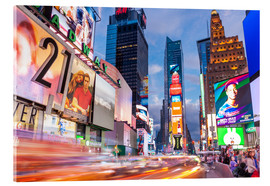Quadro em acrílico  Passing vehicles in front of the billboards of Times Square in New York - Neale Clarke
