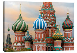 Quadro em tela  St. Basil's Cathedral in Moscow - Miles Ertman
