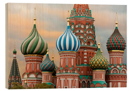 Quadro de madeira  St. Basil's Cathedral in Moscow - Miles Ertman