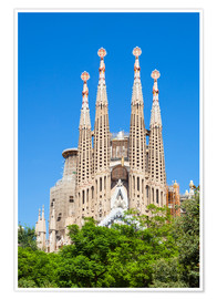 Póster Premium  La Sagrada Familia church in Barcelona - Neale Clarke