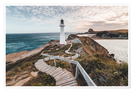 Póster Premium  Lighthouse of Wellington, New Zealand - Nicky Price