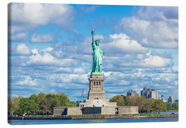 Quadro em tela  The Statue of Liberty on a cloudy day - Neale Clarke