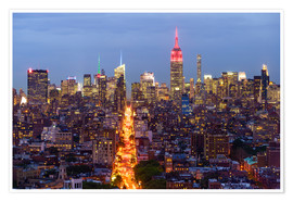 Póster Premium  Empire State Building and city skyline - Fraser Hall
