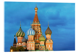 Quadro em acrílico  Brilliant St. Basil's Cathedral in Moscow - Miles Ertman