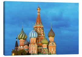 Quadro em tela  Brilliant St. Basil's Cathedral in Moscow - Miles Ertman