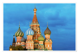 Póster Premium  Brilliant St. Basil's Cathedral in Moscow - Miles Ertman