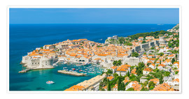Póster Premium  Old Port and Dubrovnik Old Town - Neale Clarke