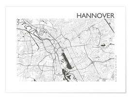 Póster Premium  City map of Hannover - 44spaces