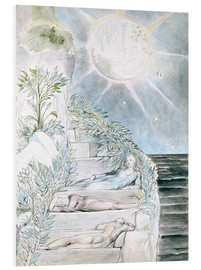 Quadro em PVC  Dante and Statius sleep - William Blake