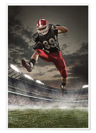 Póster Premium  football player in action