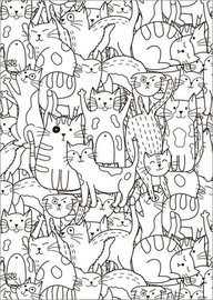 Póster para colorir  Gatos por gatos - Kidz Collection