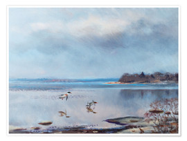 Póster Premium  birds by the shore - Bruno Andreas Liljefors