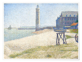 Póster Premium  Lighthouse in Honfleur - Georges Seurat