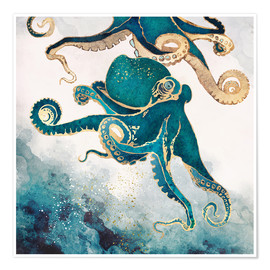 Póster Premium  Octopus, underwater dream V - SpaceFrog Designs