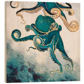 Quadro de madeira  Octopus, underwater dream V - SpaceFrog Designs