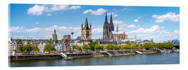Quadro em acrílico  Cologne Rheinufer with cathedral and town hall - Jan Christopher Becke