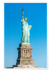 Póster Premium  Statue of Liberty on Liberty Island, New York City, USA - Jan Christopher Becke