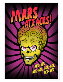 Póster Premium Mars Attacks!