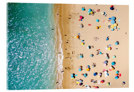 Quadro em acrílico  Aerial View Of People on Summer Holiday - Radu Bercan