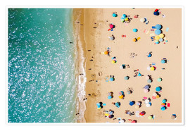 Póster Premium Aerial View Of People on Summer Holiday