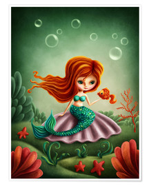 Póster Premium Little mermaid