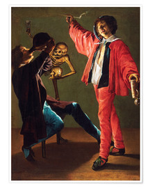 Póster Premium  The Last Drop (The Gay Cavalier) - Judith Leyster