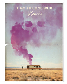 Póster Premium The One Who Knocks, Breaking Bad