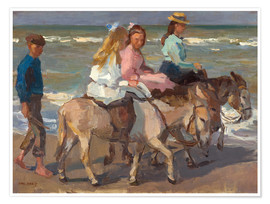 Póster Premium  To ride a donkey - Isaac Israels