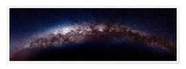 Póster Premium The vastness of the milky way